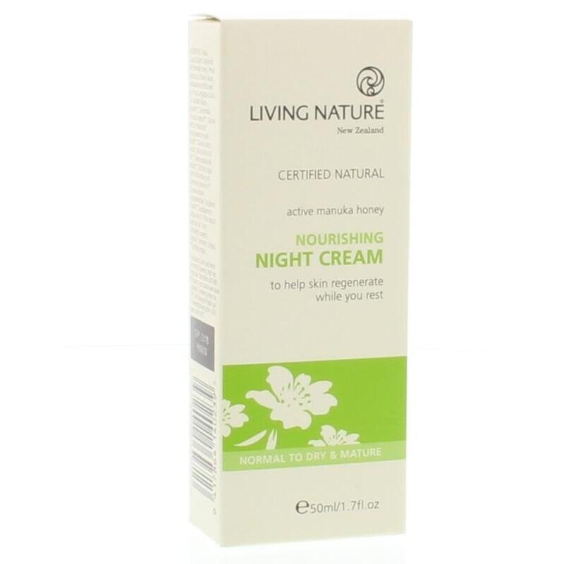 Anti-oxidant nachtcrème met Manuka Honing - 50 ml Living Nature