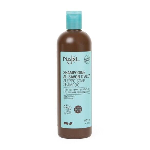 Biologische Aleppo 2-in-1 Shampoo Vet haar (sulfaatvrij) - 500 ml Najel