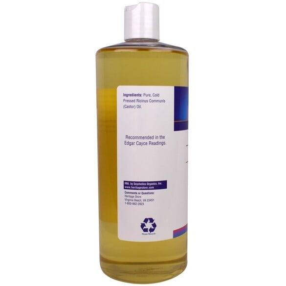 Castorolie koud geperst - 960ml Heritage products