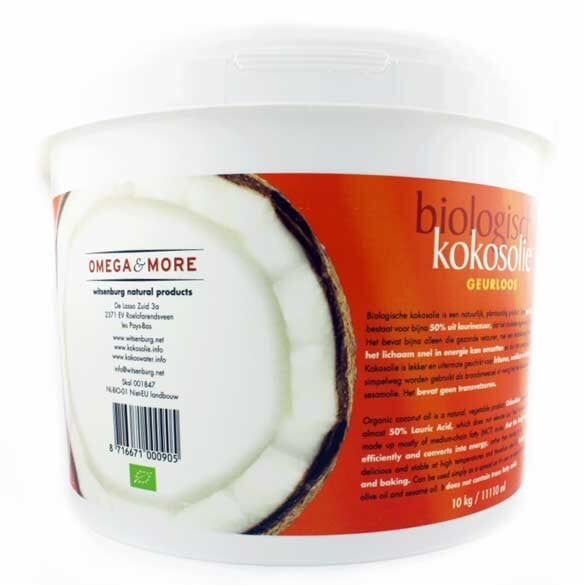 Kokosolie geurloos - 10kilo Omega & More